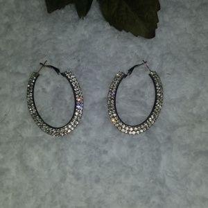 Diamond Oval Earring.